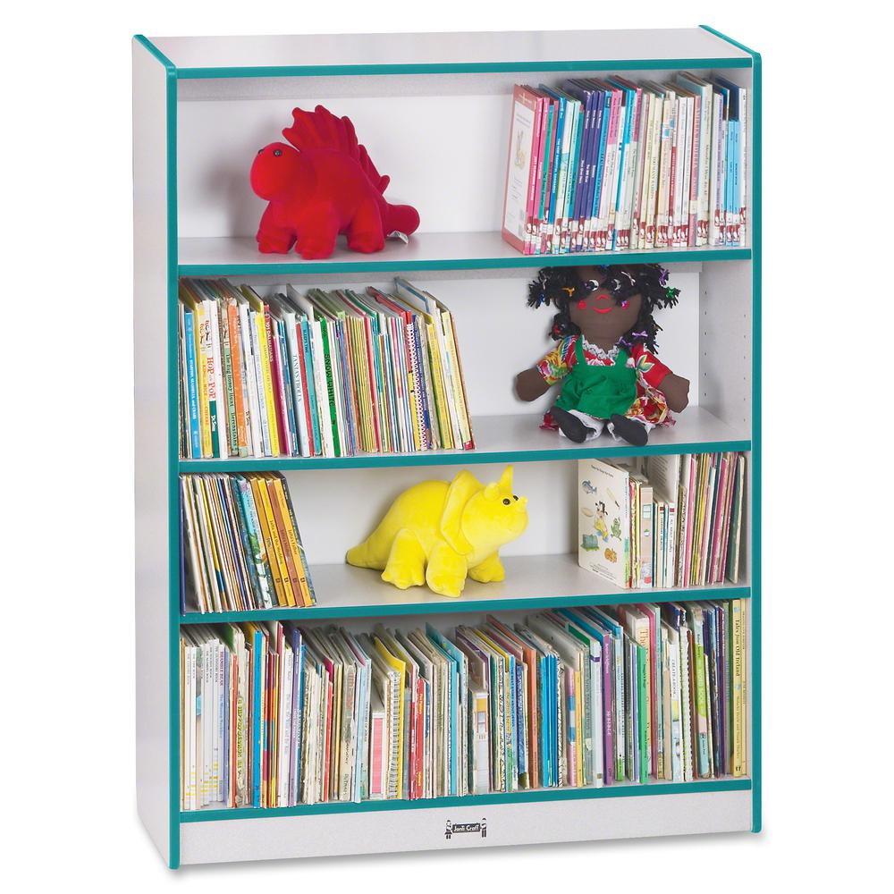 """Rainbow Accents 48"""" Bookcase - 48"""" Height x 36.5"""" Width x 11.5"""" Depth - Teal - 1Each. Picture 5"""