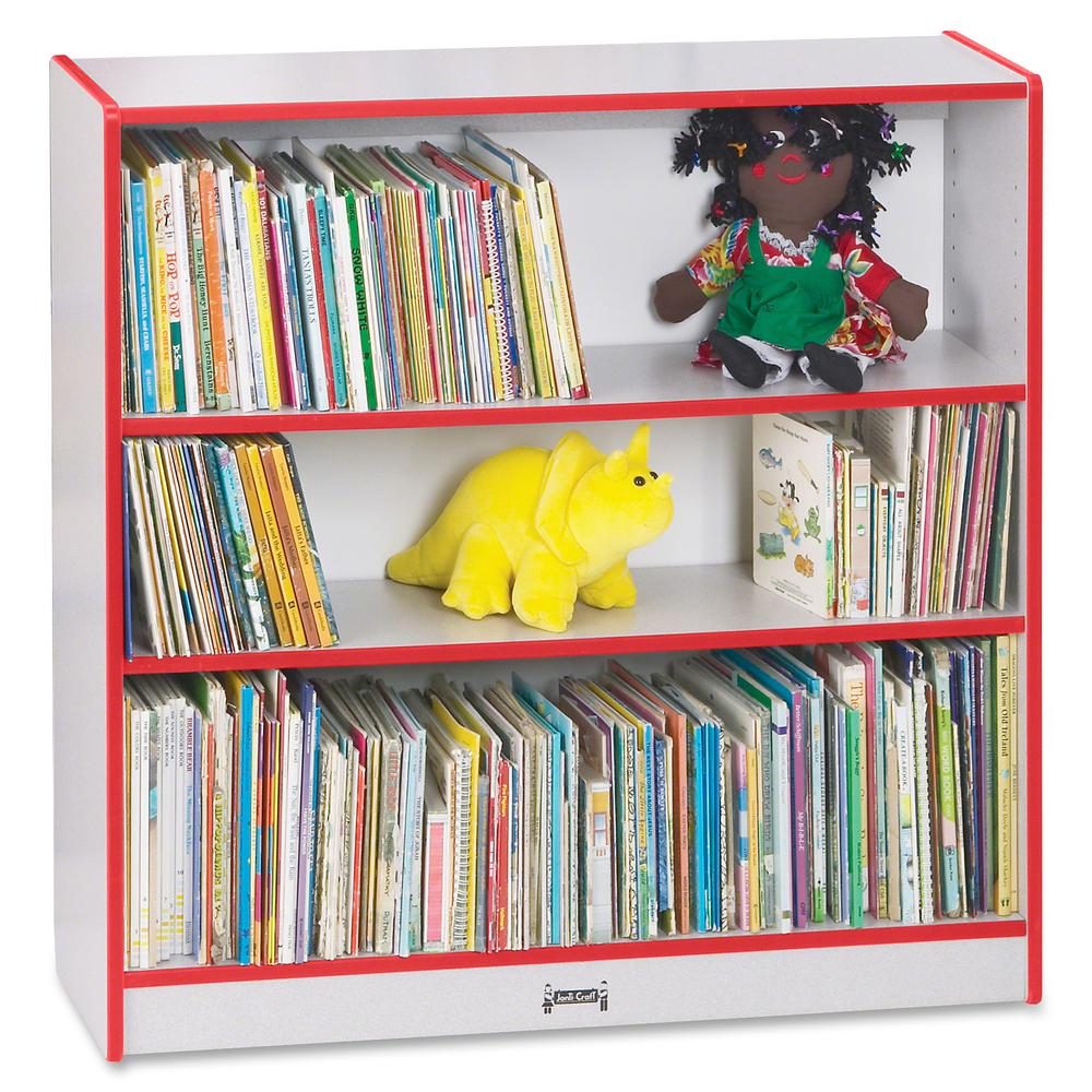 """Rainbow Accents 36"""" Bookcase - 36"""" Height x 36.5"""" Width x 11.5"""" Depth - Red - 1Each. Picture 5"""