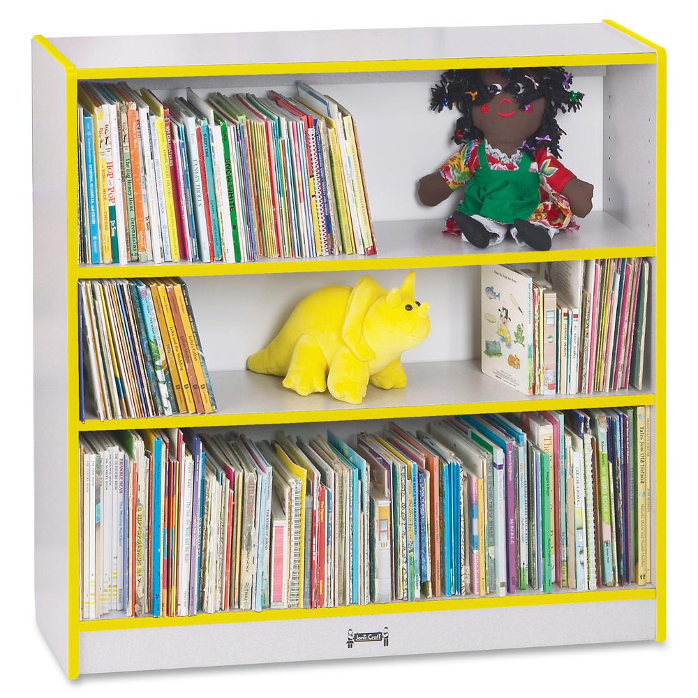 "Rainbow Accents 36"" Bookcase - 36"" Height x 36.5"" Width x 11.5"" Depth - Yellow - 1Each. Picture 4"