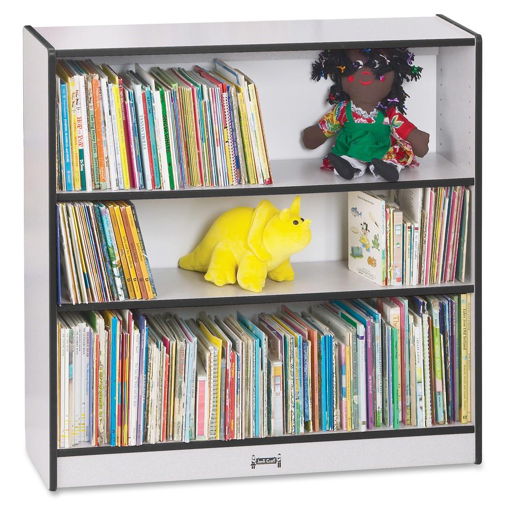 """Rainbow Accents 36"""" Bookcase - 36"""" Height x 36.5"""" Width x 11.5"""" Depth - Black - 1Each. Picture 3"""