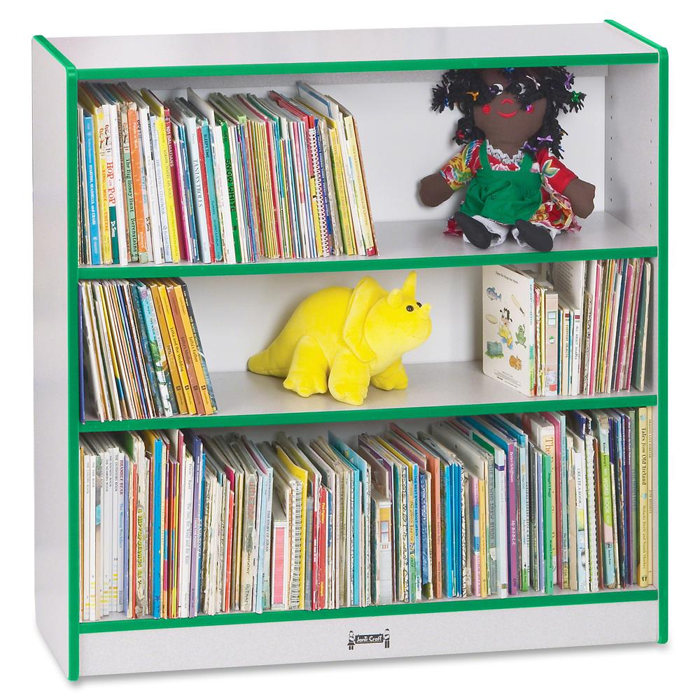 "Rainbow Accents 36"" Bookcase - 36"" Height x 36.5"" Width x 11.5"" Depth - Green - 1Each. Picture 3"