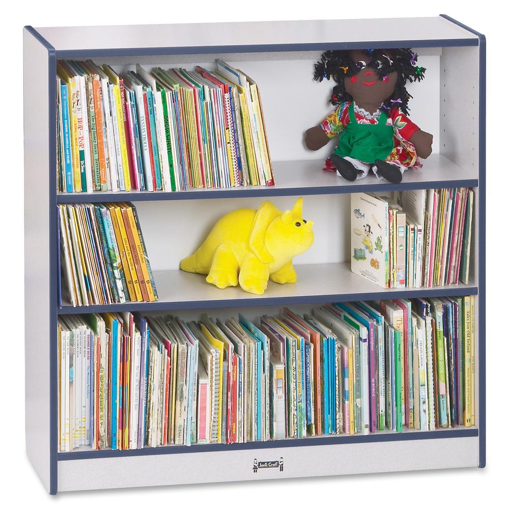 """Rainbow Accents 36"""" Bookcase - 36"""" Height x 36.5"""" Width x 11.5"""" Depth - Navy - 1Each. Picture 5"""