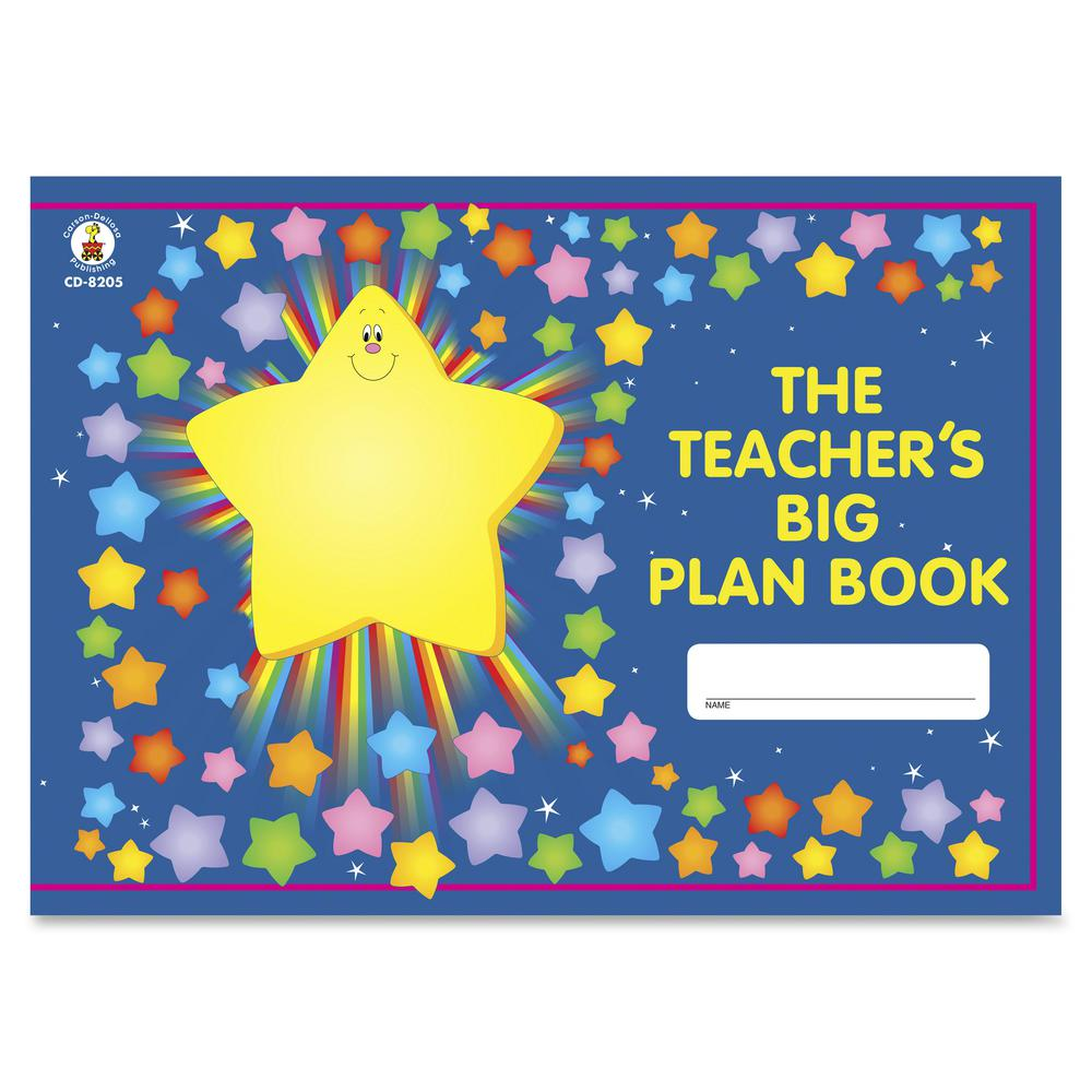 "Carson Dellosa Education Grades K-5 Teacher's Big Plan Book - Academic - 13"" x 9 1/4"" Sheet Size - 9.5"" Height x 13"" Width - Class Schedule - 1 Each. Picture 2"