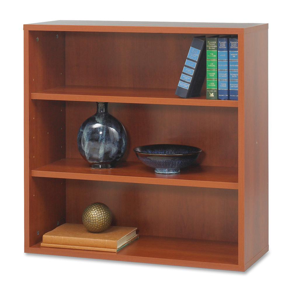 "Safco Après Modular Storage Open Bookcase - 29.8"" x 11.8"" x 29.8"" - 2 x Shelf(ves) - 75 lb Load Capacity - Cherry - Wood. Picture 4"