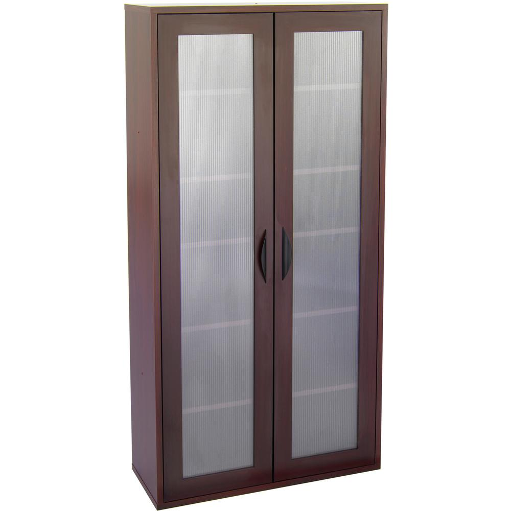 """Safco Après Modular Storage Tall Cabinet - 29.8"""" x 11.8"""" x 59.5"""" - 5 x Shelf(ves) - 75 lb Load Capacity - Mahogany - Wood - Assembly Required. Picture 7"""