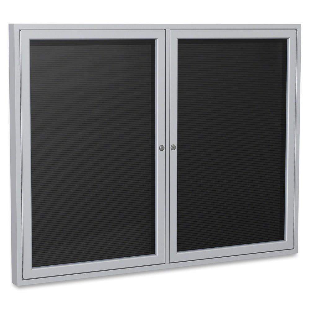"""Ghent Aluminum Frame Enclosed Indoor Letterboard - 36"""" Height x 48"""" Width - Shatter Resistant, Lock, Weather Resistant, Durable - Aluminum Frame - 1 Each. Picture 2"""