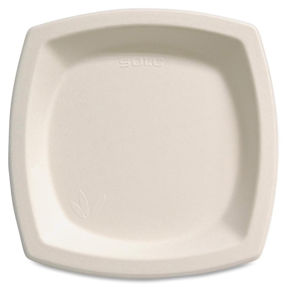 """Solo Cup Bare Sugar Cane Plates - 6.70"""" Diameter Plate - Off White - 125 Piece(s) / Pack. Picture 2"""