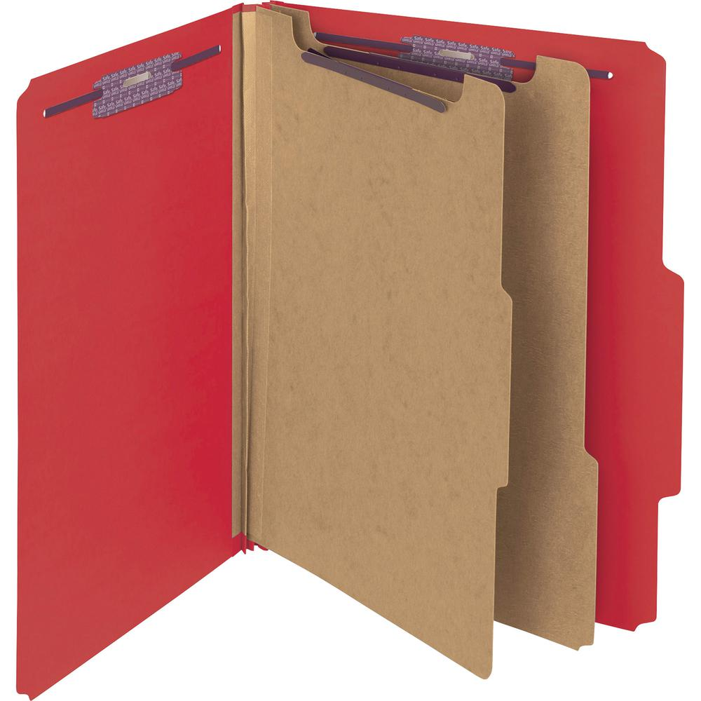 """Smead Press Guard Classification Folders with SafeSHIELD Coated Fastener Technology - Letter - 8 1/2"""" x 11"""" Sheet Size - 2"""" Expansion - 2 x 2S Fastener(s) - 2"""" Fastener Capacity for Folder, 1"""" Fastene. Picture 4"""