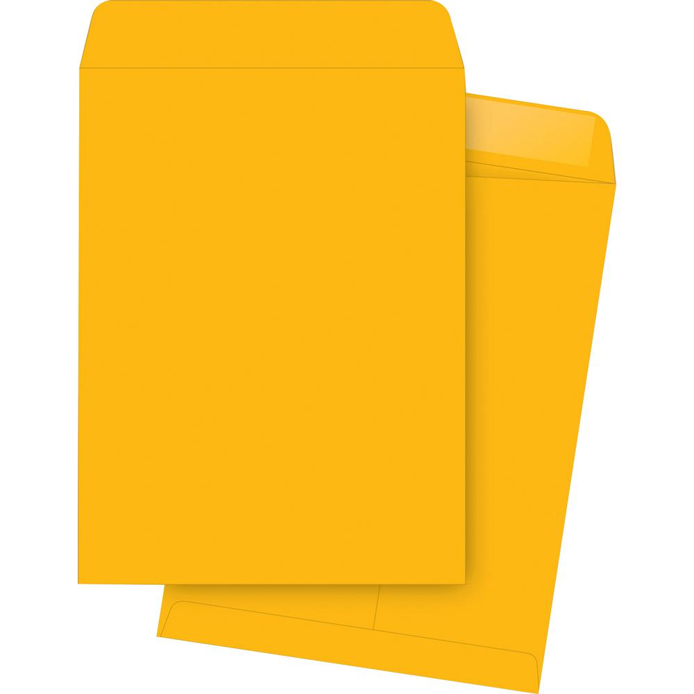"Business Source Kraft Gummed Catalog Envelopes - Catalog - #12 1/2 - 9 1/2"" Width x 12 1/2"" Length - 28 lb - Gummed - Kraft - 250 / Box - Brown Kraft. Picture 2"