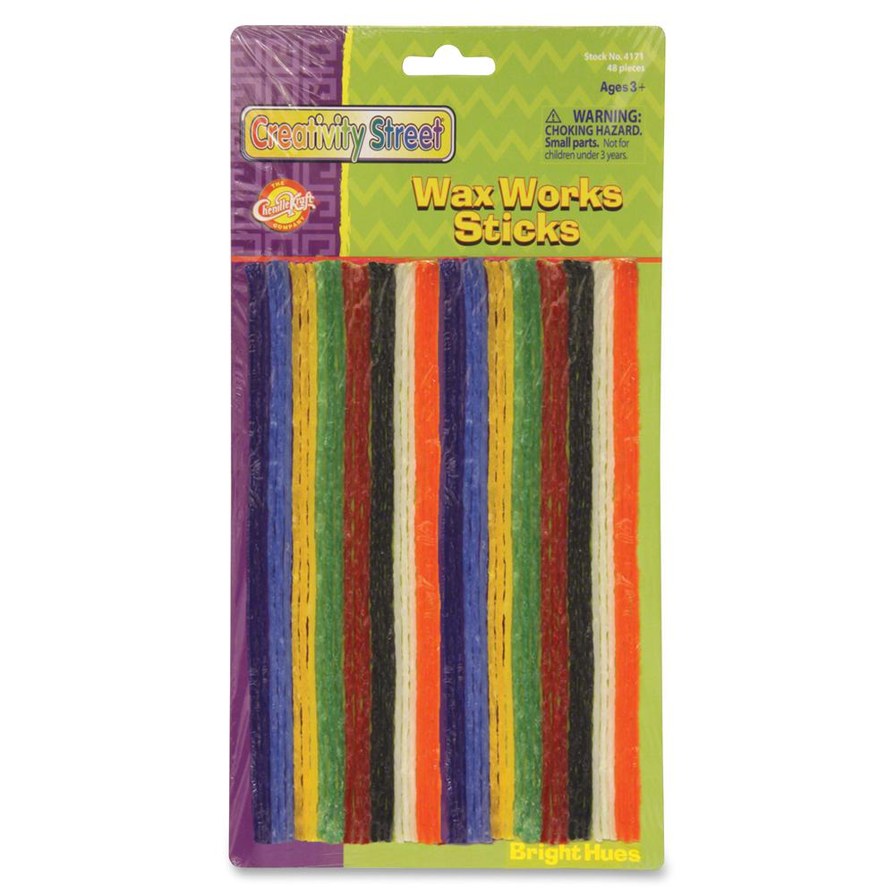 "Creativity Street Bright Hues Wax Works Sticks - 8"" - 48 / Pack - Assorted. Picture 2"