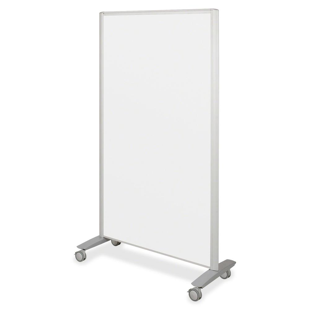 "MooreCo Balt Lumina Multifunctional Mobile Room Divider - 39.5"" Width x 72"" Height x 20"" Depth - Platinum Frame. Picture 6"