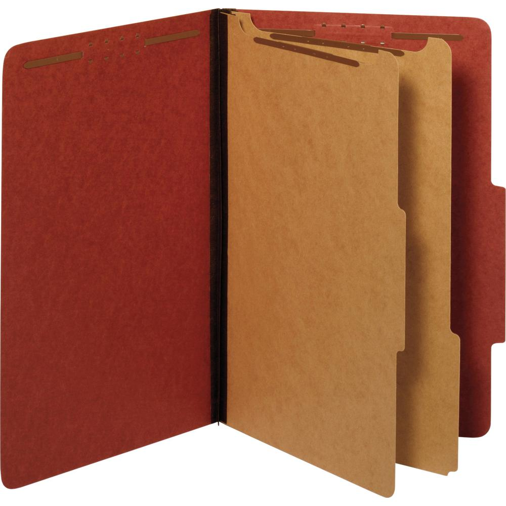 """Pendaflex 2-divider Recycled Classification Folders - Legal - 8 1/2"""" x 14"""" Sheet Size - 2 1/2"""" Expansion - 6 Fastener(s) - 2"""" Fastener Capacity - 2/5 Tab Cut - Top Tab Location - Right of Center Tab P. Picture 2"""