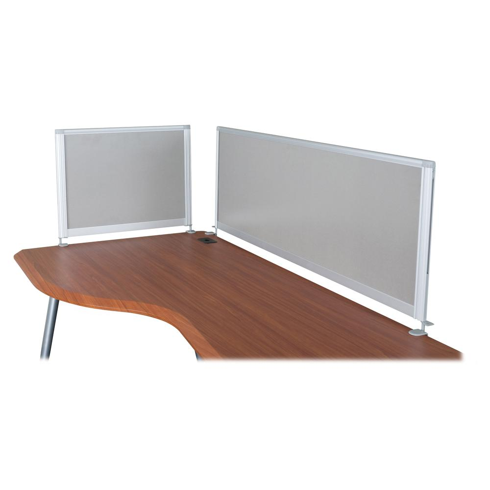 """MooreCo iFlex Modular Desking Full Privacy Panel - 49"""" Width x 17"""" Height x 1"""" Depth - Gray. Picture 2"""