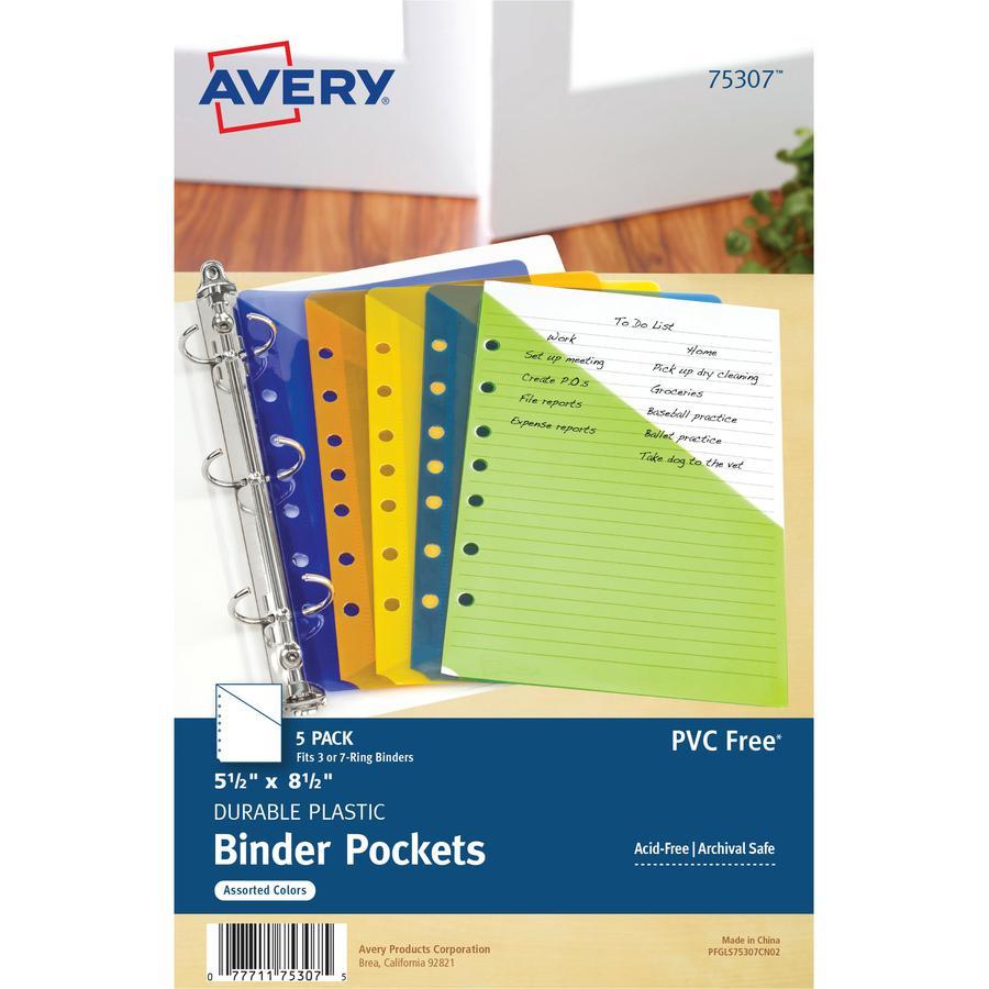 Avery® Mini Binder Pockets