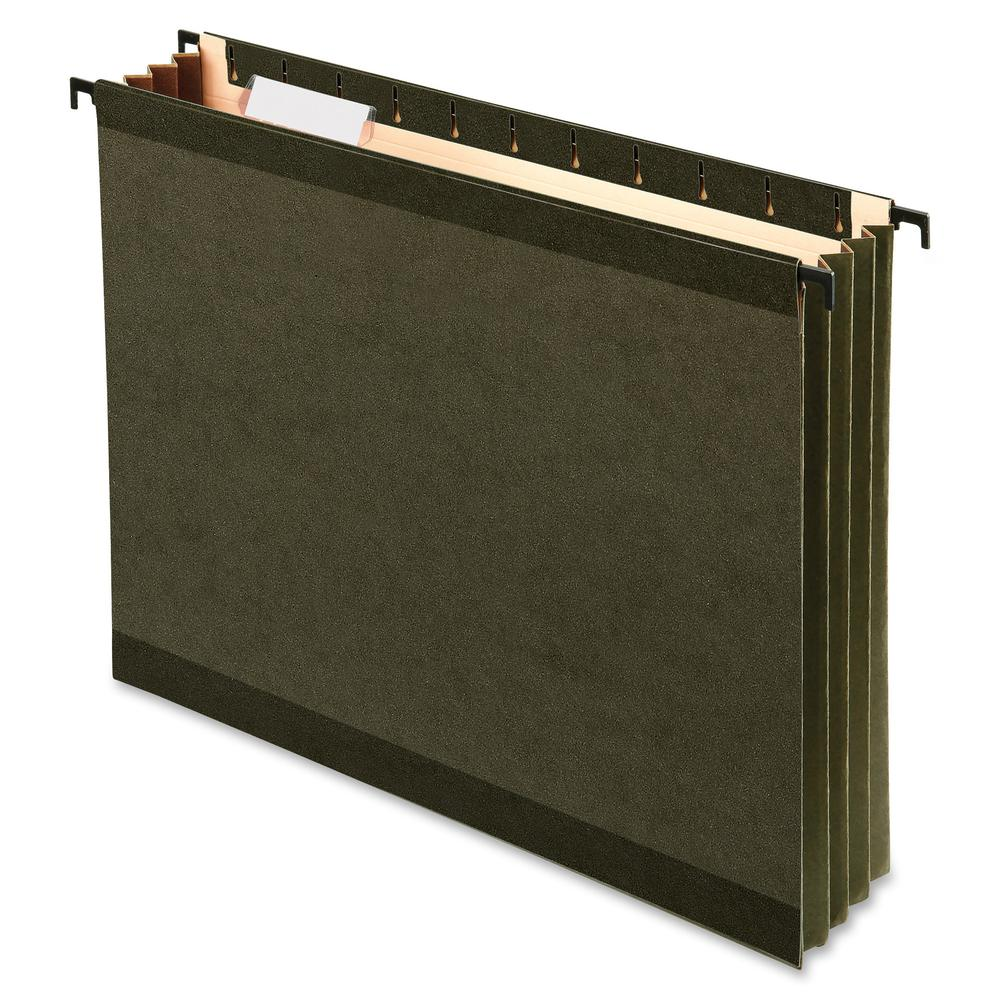 """Pendaflex SureHook Letter Recycled Hanging Folder - 3 1/2"""" Folder Capacity - 8 1/2"""" x 11"""" - 3 1/2"""" Expansion - Poly - Standard Green - 10% - 4 / Pack. Picture 2"""