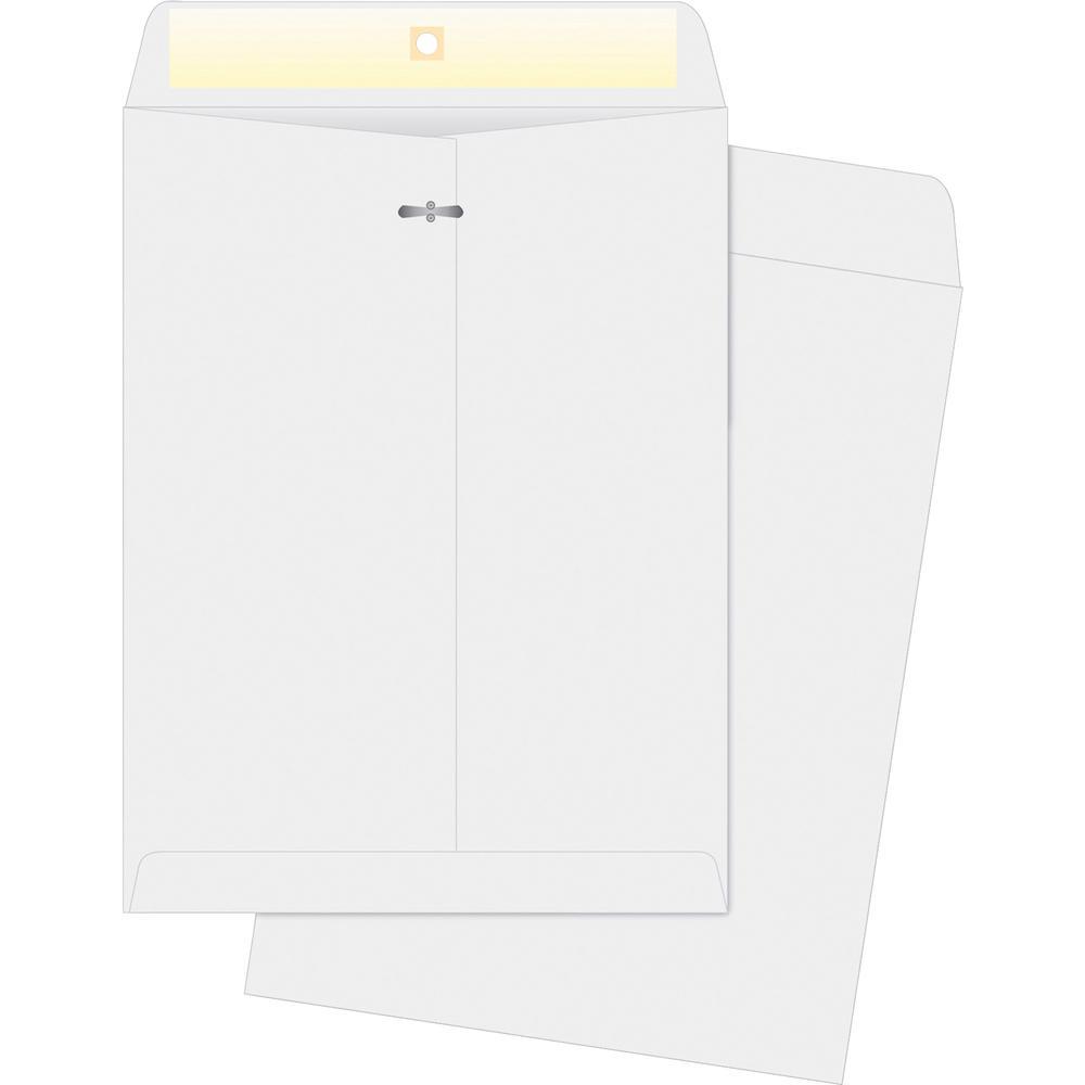 "Business Source Double-prong Clasp Envelopes - Clasp - #97 - 10"" Width x 13"" Length - 28 lb - Clasp - Wove - 100 / Box - White. Picture 2"