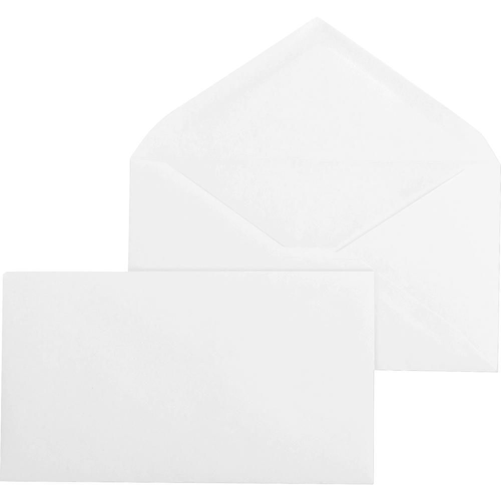 "Business Source Diagonal Seam No. 9 Envelopes - Business - #9 - 3 7/8"" Width x 8 7/8"" Length - 24 lb - Gummed - Wove - 500 / Box - White. Picture 2"