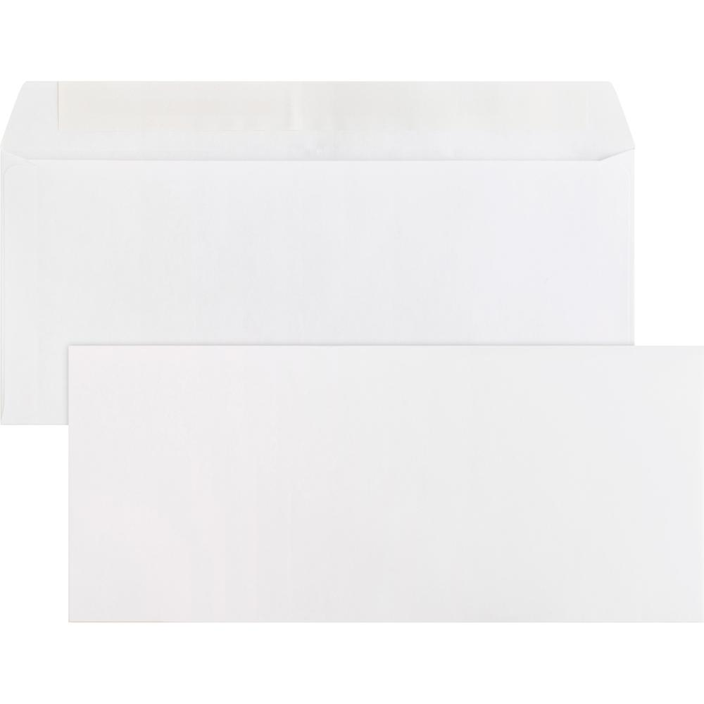 "Business Source Plain Peel/Seal Business Envelopes - Business - #10 - 9 1/2"" Width x 4 1/8"" Length - 24 lb - Peel & Seal - Wove - 500 / Box - White. Picture 2"