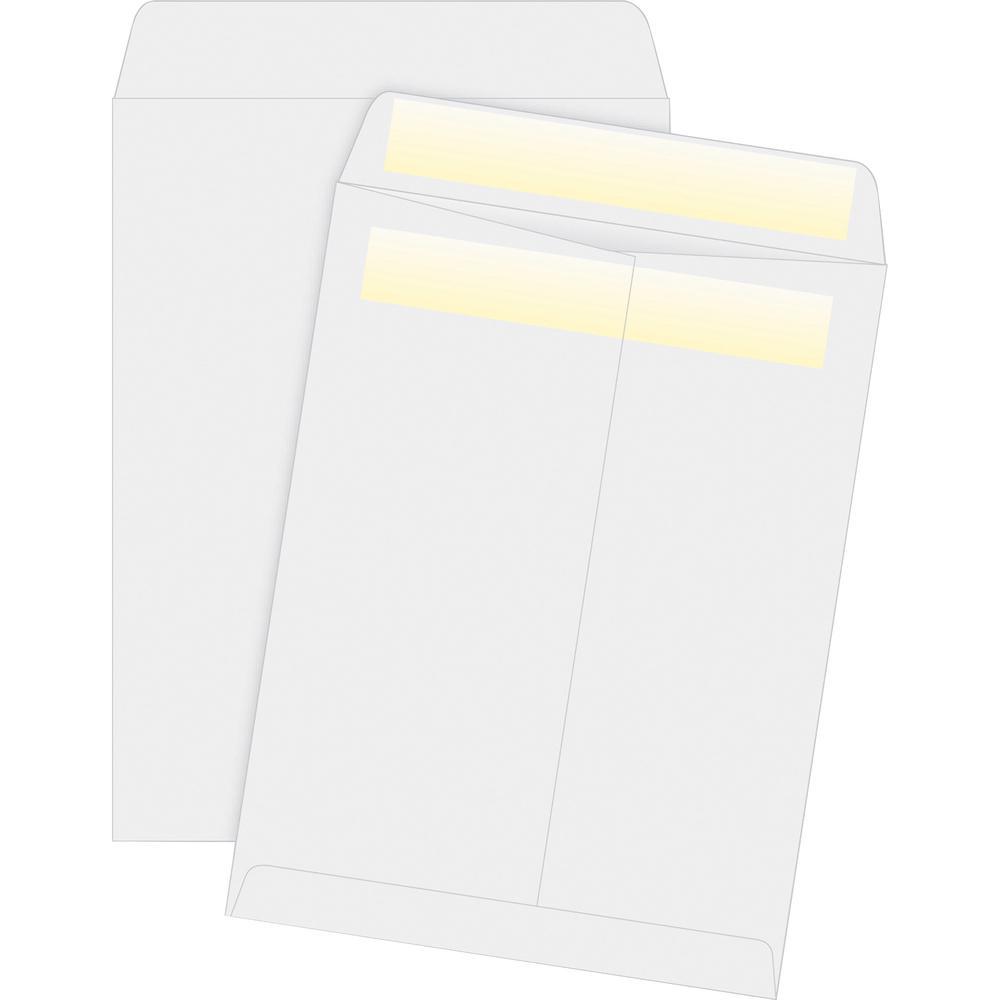 "Business Source Press/Seal Catalog Envelopes - Catalog - 10"" Width x 13"" Length - 28 lb - Self-sealing - 100 / Box - White. Picture 2"