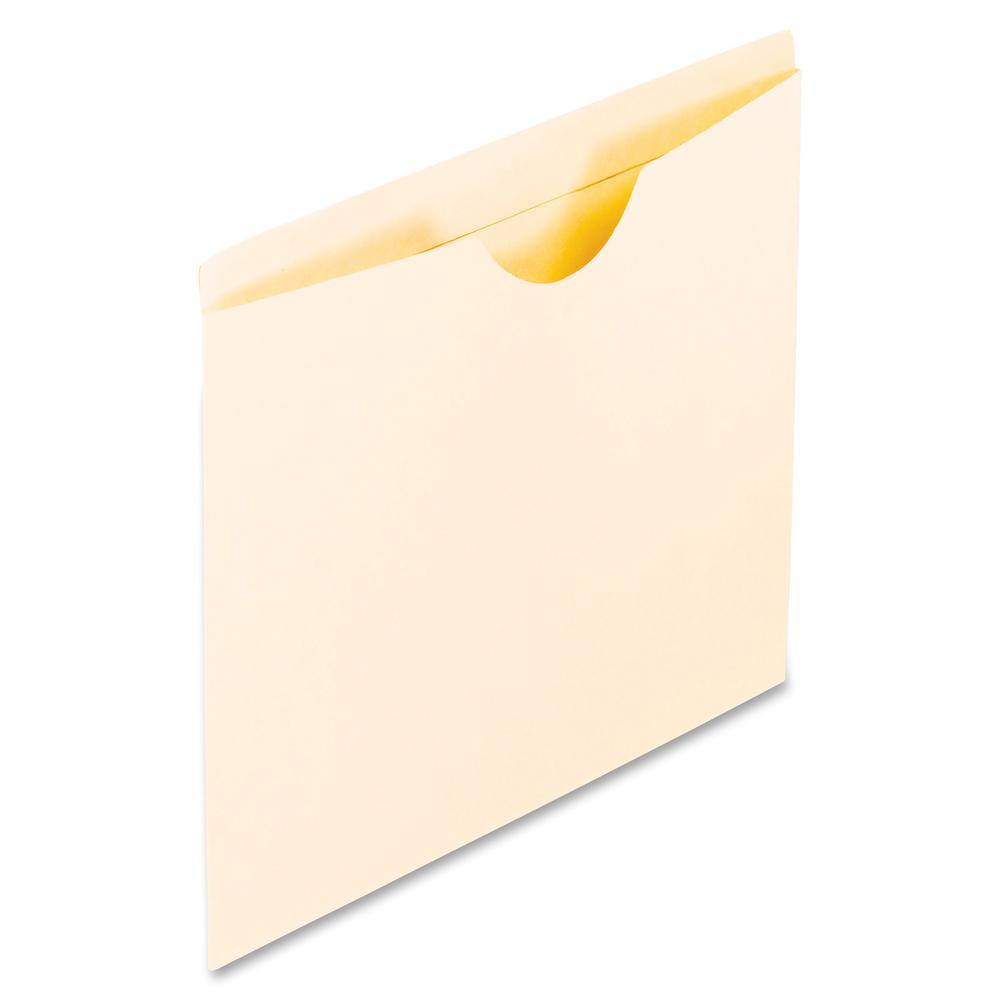 "Pendaflex Letter Recycled File Jacket - 8 1/2"" x 11"" - Manila - Manila - 10% - 100 / Box. Picture 2"