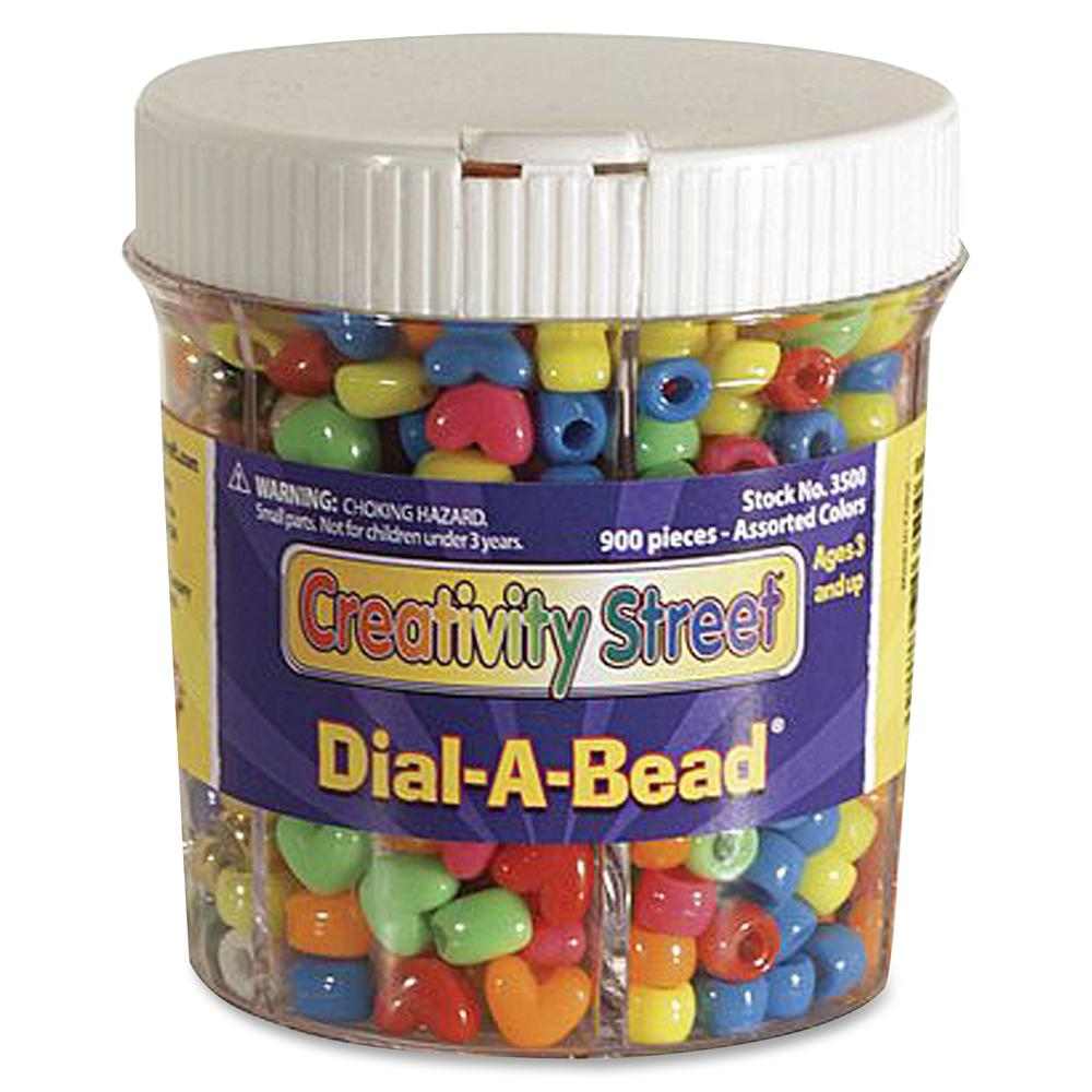 Creativity Street Dial-A-Bead Jar Assortment - Recommended For 3 Year - 900 Piece(s) - 900 / Each - Assorted. Picture 2