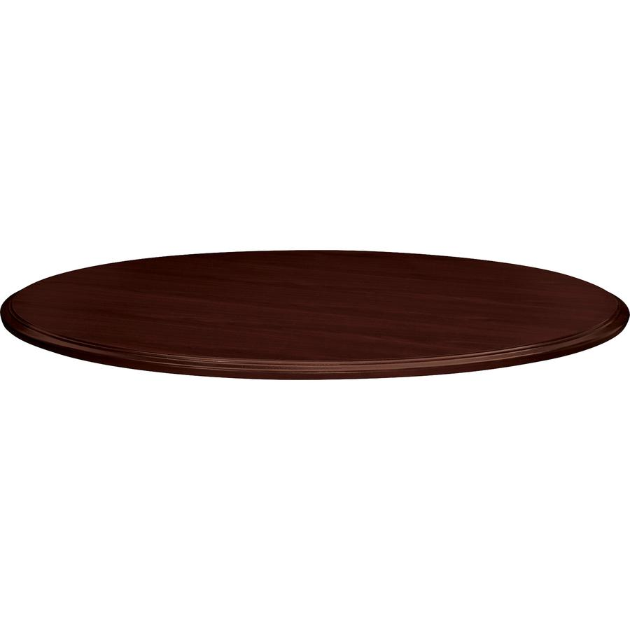 """HON Preside Laminate Round Top, 48""""D - Round Top - 1.13"""" Table Top Thickness x 48"""" Table Top Diameter - Laminated, Mahogany. Picture 2"""