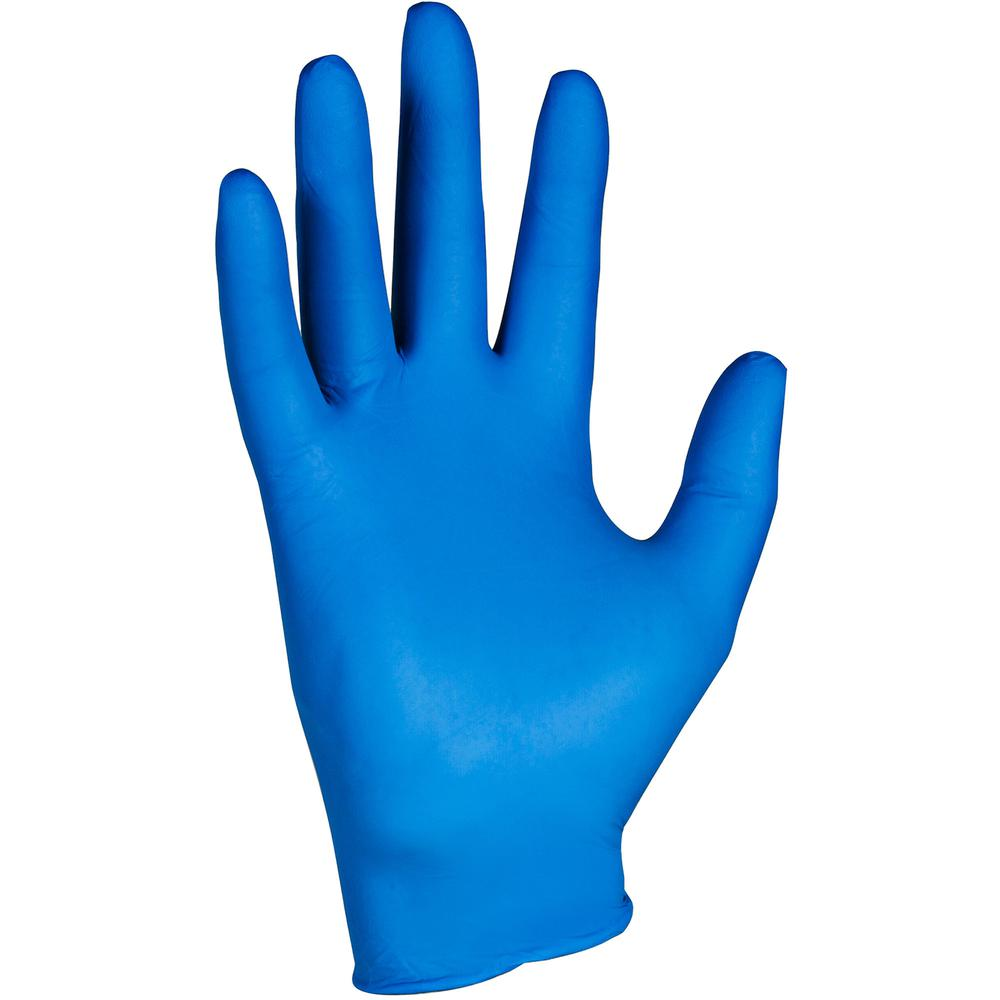 KleenGuard G10 Nitrile Gloves - Large Size - Nitrile - Arctic Blue - Latex-free, Powder-free, Textured Fingertip, Ambidextrous, Beaded Cuff, Comfortable - For Industrial, Food Handling, Electrical Con. Picture 8