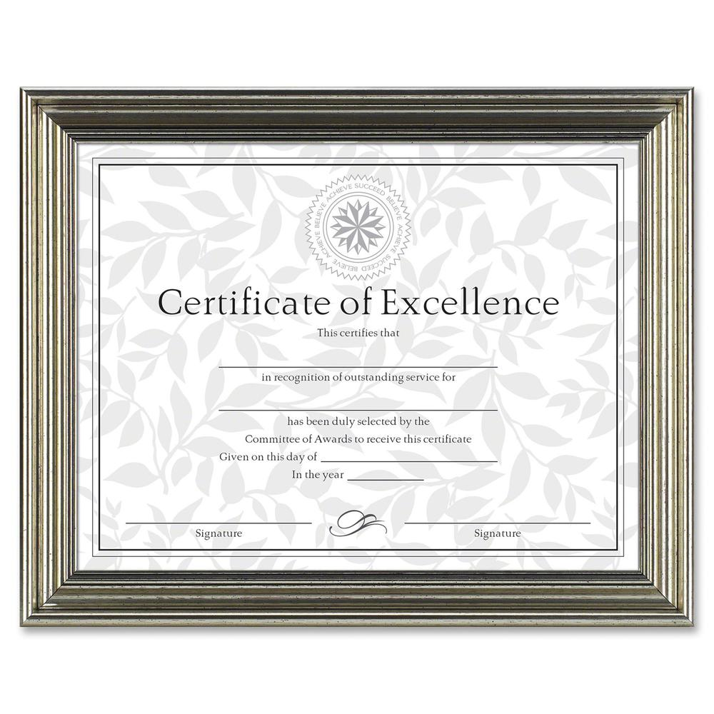 "Dax Burns Group Antique-colored Certificate Frame - 11"" x 8.50"" Frame Size - Rectangle - Desktop - Horizontal, Vertical - 1 Each - Antique Silver. Picture 2"