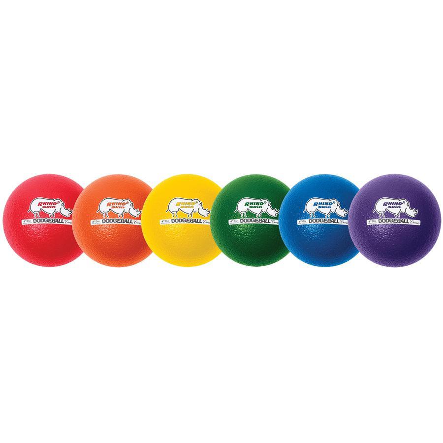 "Champion Sports 6 Inch Rhino Skin Low Bounce Dodgeball Set - 6.30"" - Low Density Foam - Dodgeball - Red, Orange, Yellow, Green, Blue, Purple - 8 / Case. Picture 5"