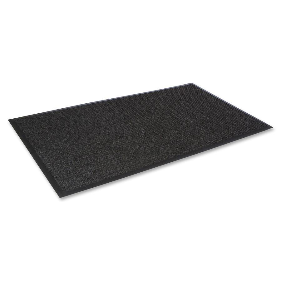 "Crown Mats Super-Soak Wiper Scraper Mat - Floor - 68"" Length x 45"" Width x 0.38"" Thickness - Rectangle - Rubber, Polypropylene - Charcoal. Picture 3"