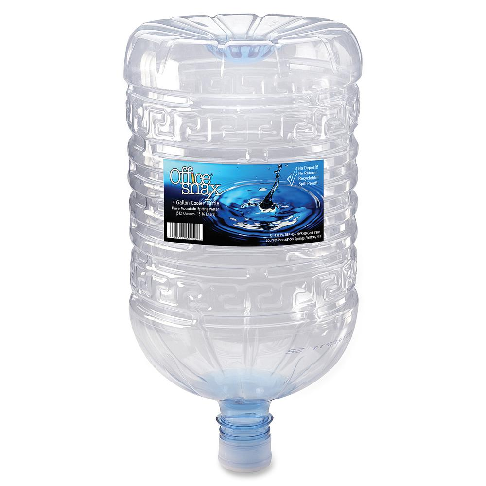 Office Snax Natural Spring Water - 4 Gallon (15.14 L) - 1 Each