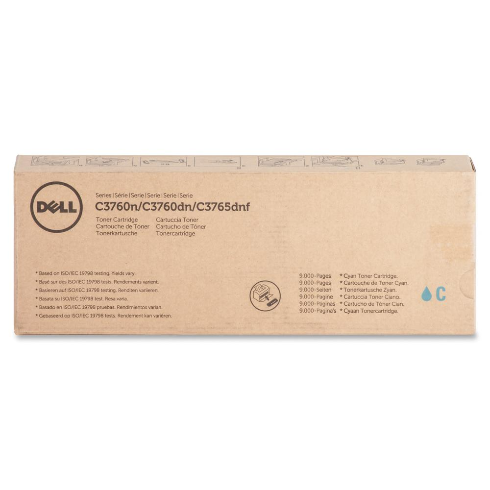 Dell Toner Cartridge - Laser - Extra High Yield - 9000 Pages - Cyan - 1 Each. Picture 2
