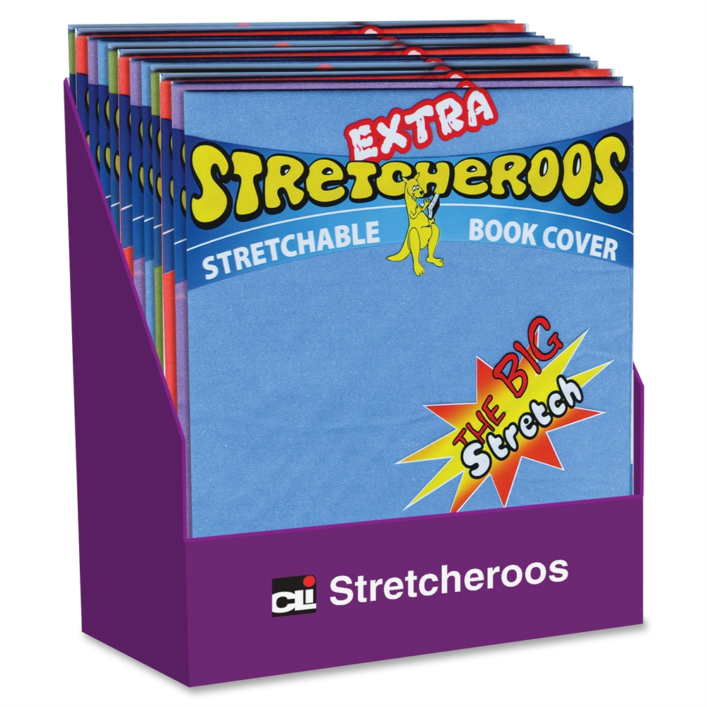 Fabric Book Covers Office Depot : Cli extra stretcheroos book cover display supports