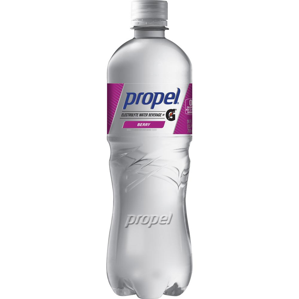 Propel Zero Quaker Foods Flavored Water Beverage - Berry Flavor - 24 fl oz (710 mL) - 12 / Carton. Picture 4