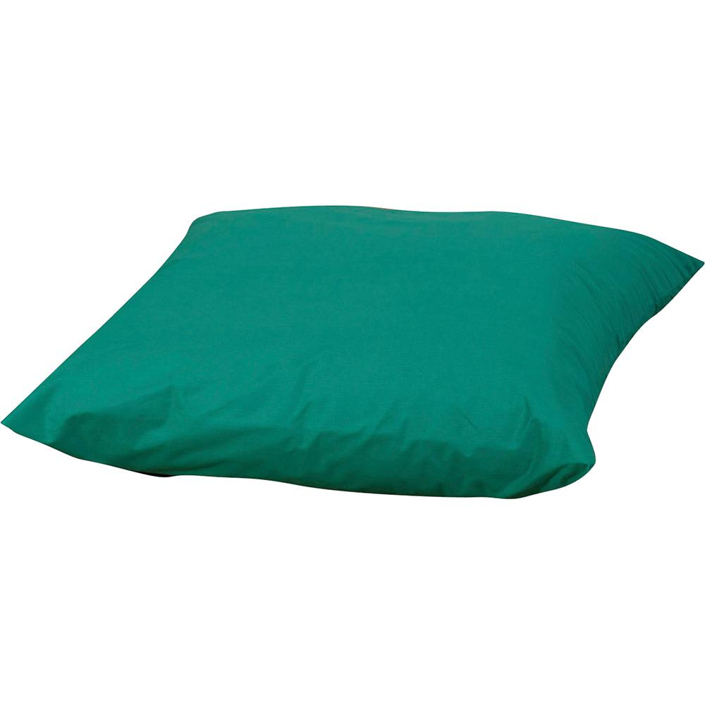 "Children's Factory Foam-filled Square Floor Pillow - 27"" x 27"" - Foam Filling - Polyester - Square - Water Resistant, Machine Washable - Green - 1Each. Picture 2"