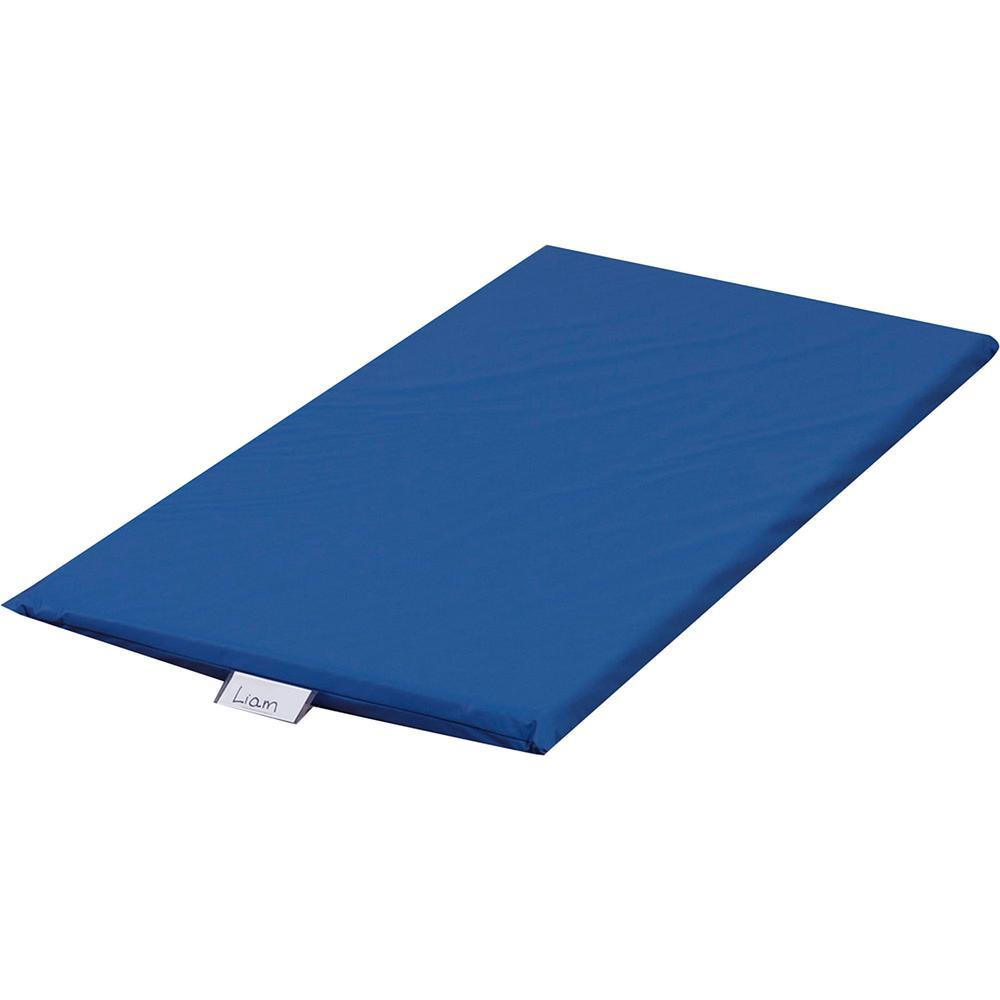 "Children's Factory Rainbow Rest Mats - Student - 48"" Length x 24"" Width x 2"" Thickness - Rectangle - Foam, Vinyl - Blue. Picture 2"