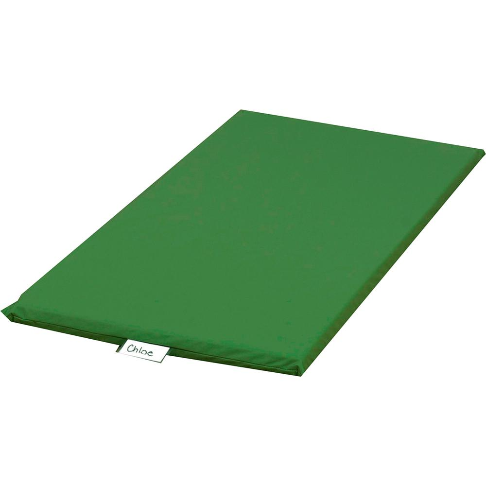 "Children's Factory Rainbow Rest Mats - Student - 48"" Length x 24"" Width x 2"" Thickness - Rectangle - Foam, Vinyl - Green. Picture 2"