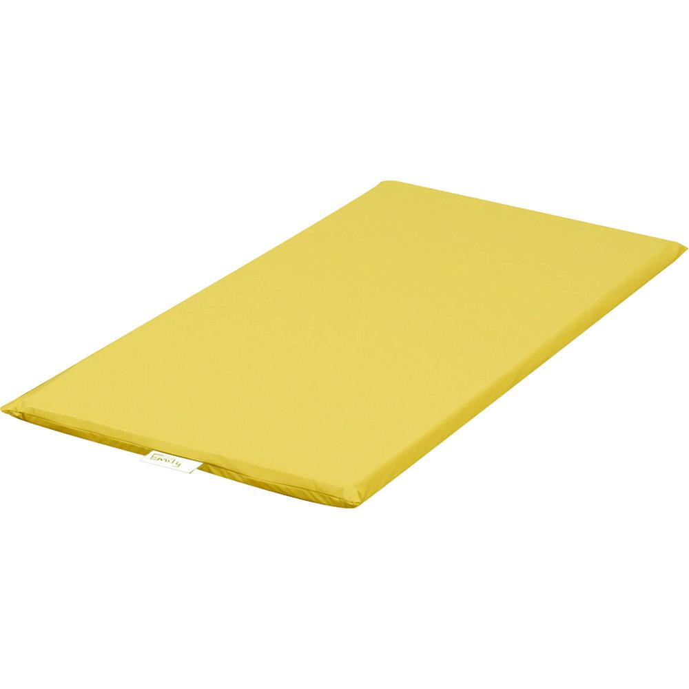 "Children's Factory Rainbow Rest Mats - Student - 48"" Length x 24"" Width x 2"" Thickness - Rectangle - Foam, Vinyl - Yellow. Picture 2"
