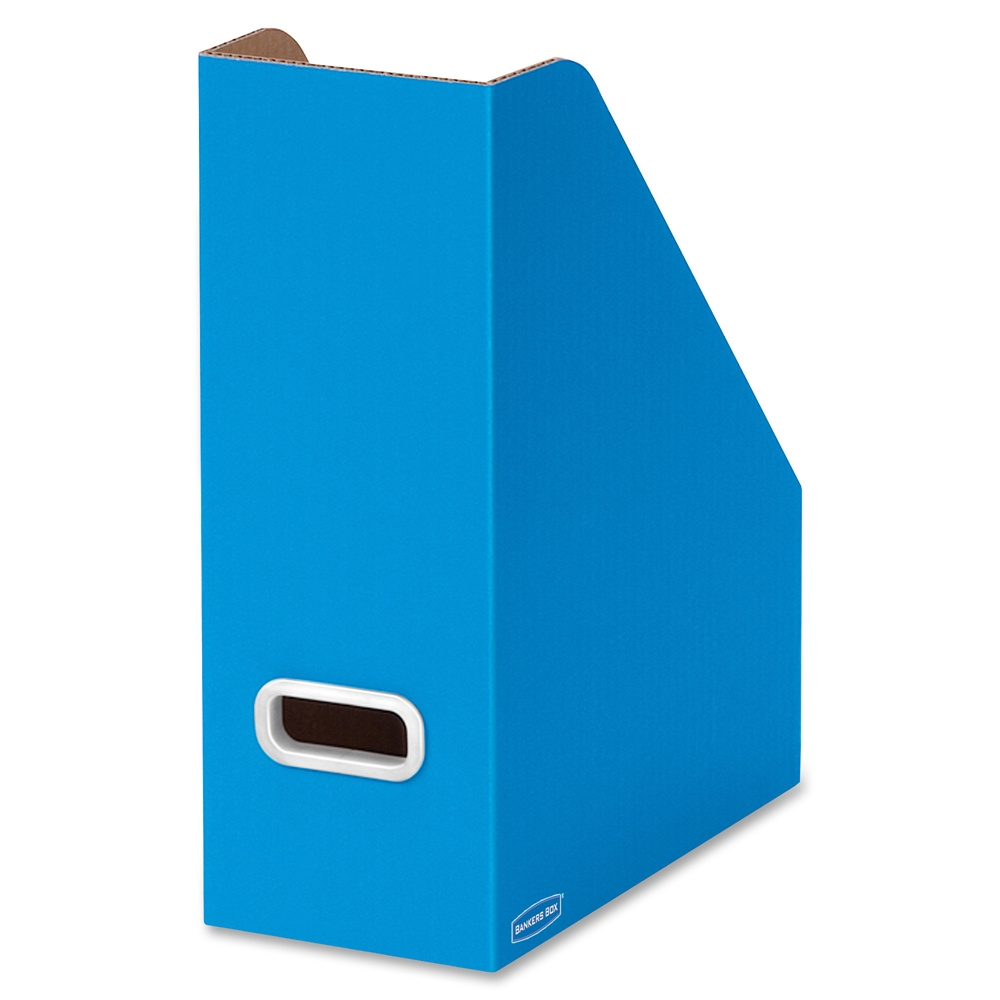 Premier Magazine File Blue White Plastic Grommet 3