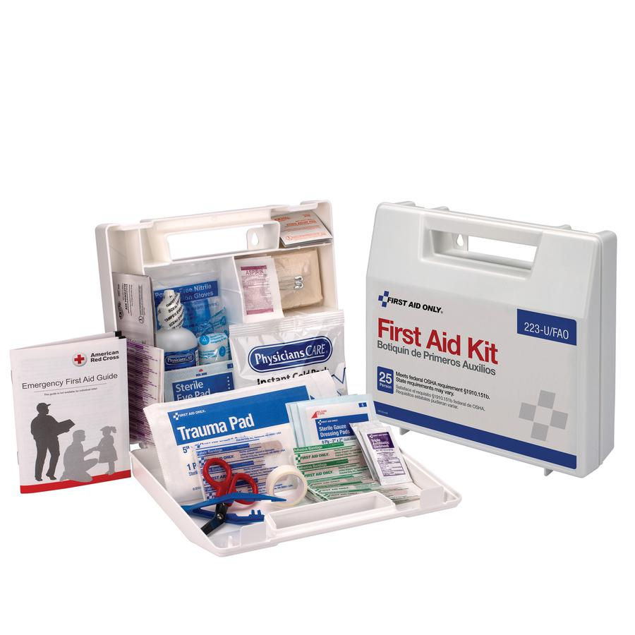 """First Aid Only 25 Person Bulk First Aid Kit - 107 x Piece(s) For 25 x Individual(s) - 2.5"""" Height x 8.4"""" Width x 9"""" Depth Length - Plastic Case - 1 Each. Picture 2"""