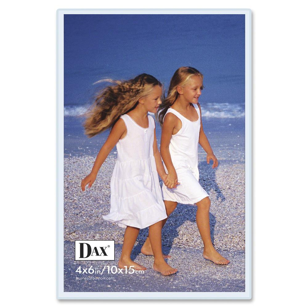 """Dax Magnetic Hook/Loop Cubicle Frame - 4"""" x 6"""" Frame Size - Rectangle - Vertical, Horizontal - Hook & Loop Fastener, Magnetic - 1 Each - Acrylic - Clear. Picture 2"""