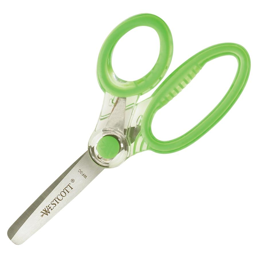 """Westcott X-RAY Microban Kids Scissors - 2"""" Cutting Length - 5"""" Overall Length - Straight-left/right - Stainless Steel - Round Tip - Bright Assorted - 1 / Each. Picture 2"""