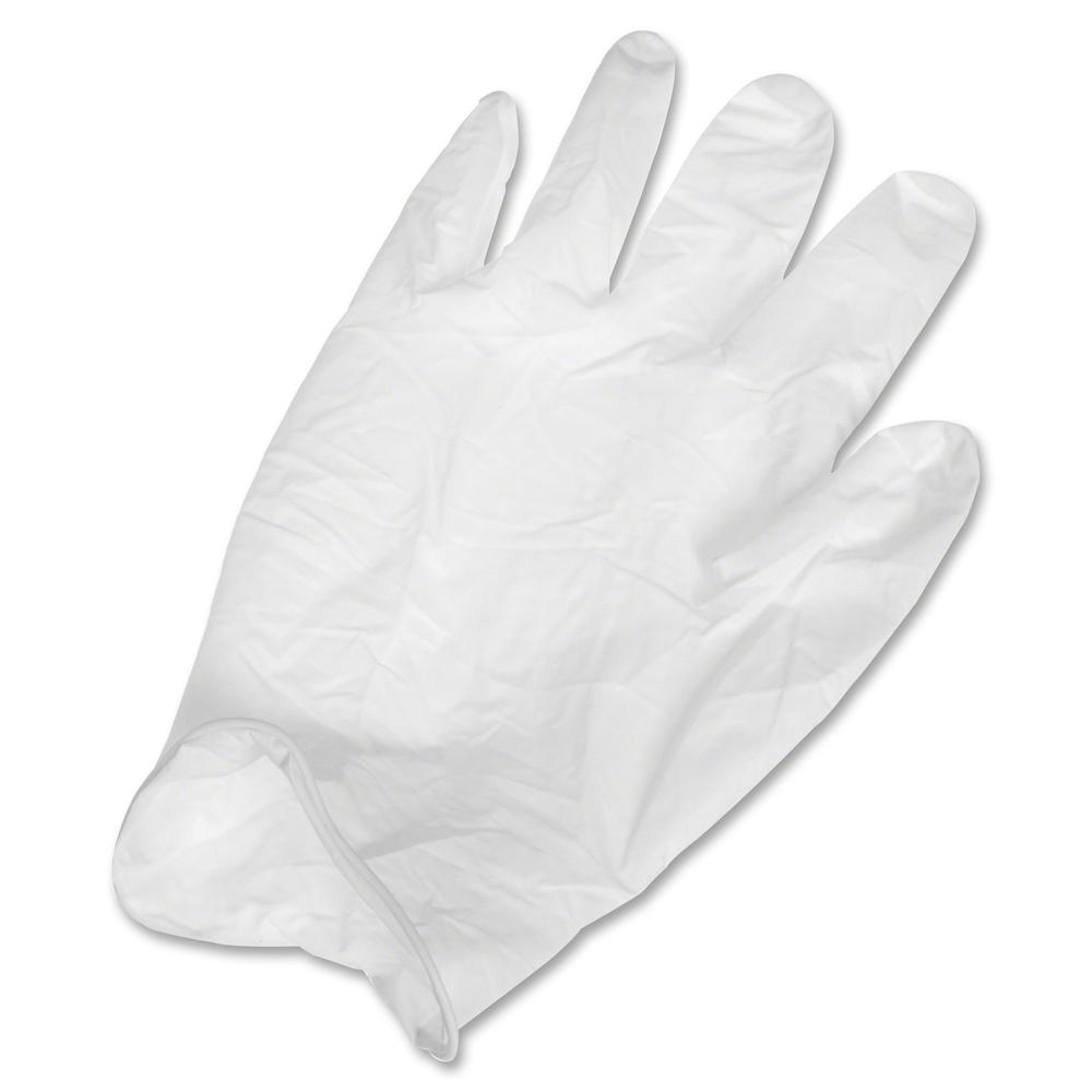 Ansell Health Powder-free Latex Exam Gloves - Large Size - Latex, Natural Rubber - White - Textured, Powder-free, Comfortable, Acid Resistant, Alcohol Resistant, Ambidextrous, Disposable, Rolled Cuff,. Picture 2