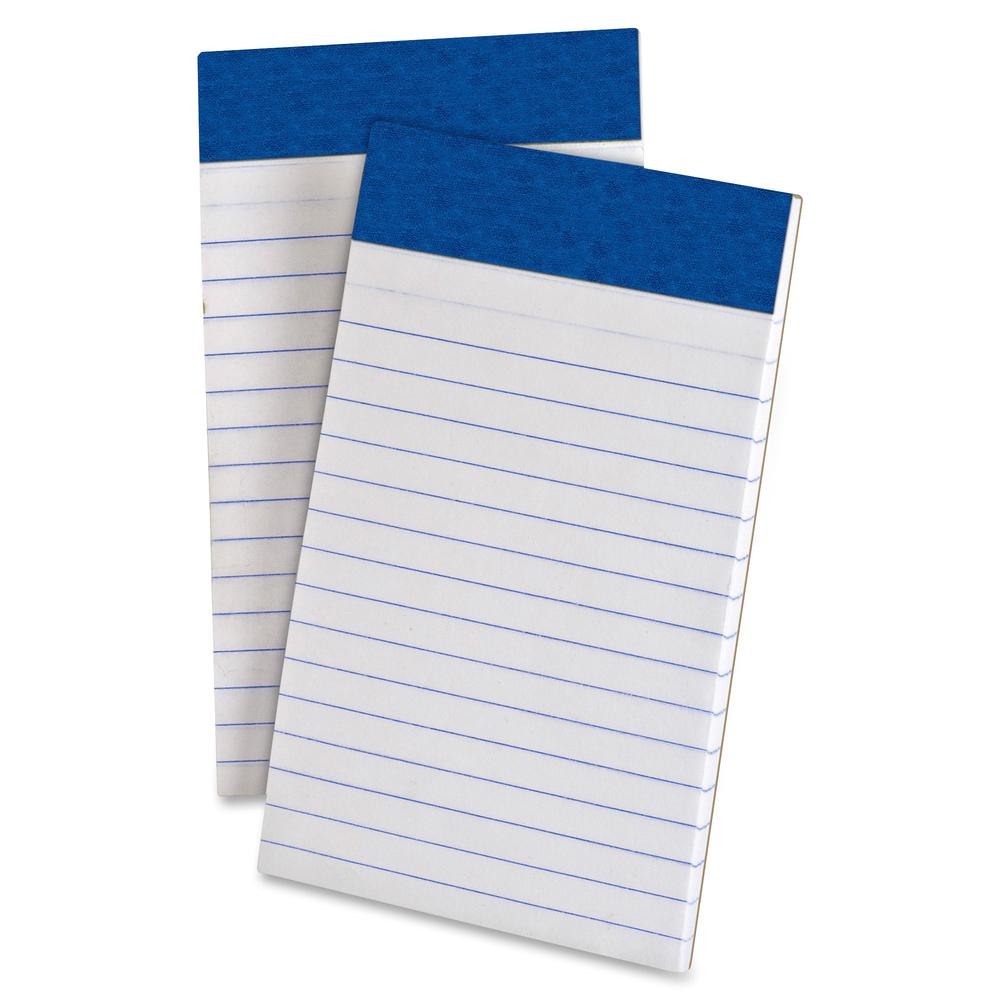 "TOPS Perforated Medium Weight Writing Pads - 50 Sheets - 15 lb Basis Weight - 3"" x 5"" - White Paper - Chipboard Backing, Sturdy Back, Micro Perforated, Easy Tear - 12 / Dozen. Picture 2"