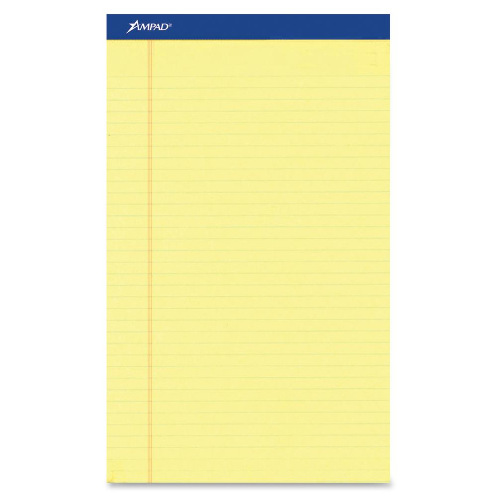 """Ampad Perforated Ruled Pads - Letter - 50 Sheets - Stapled - 0.34"""" Ruled - 8 1/2"""" x 11""""8.5""""11.8"""" - Dark Blue Binder - Sturdy Back, Chipboard Backing, Perforated, Tear Resistant - 12 / Dozen. Picture 3"""