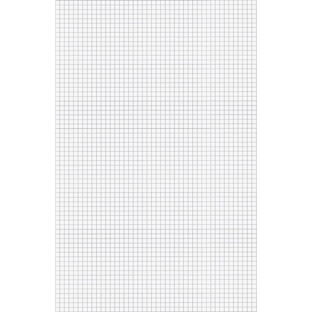 """Ampad Tabloid - size Quadrille Pad - Tabloid - 50 Sheets - Both Side Ruling Surface - 15 lb Basis Weight - 11"""" x 17"""" - White Paper - Chipboard Backing, Smudge Resistant - 50 / Pad. Picture 2"""
