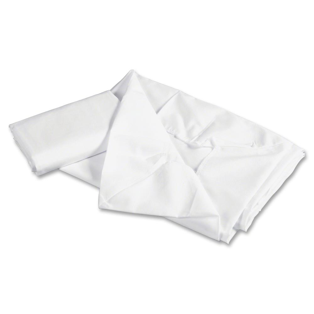 "Children's Factory Rest Mat Fitted Sheet - 24"" Width x 48"" Length - White. Picture 2"