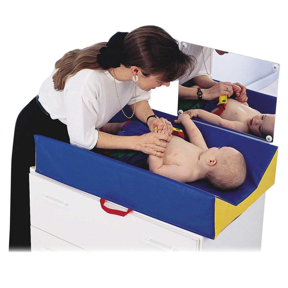 "Children's Factory Baby Changer - 29"" Length x 18"" Width x 6"" Thickness - Rectangle - Angled Design - Assorted. Picture 2"