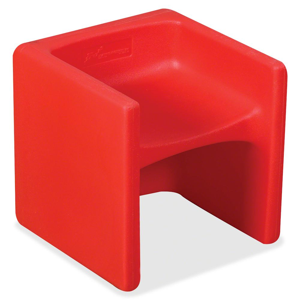 """Children's Factory Multi-use Chair Cube - Red - Polyethylene - 15"""" Length x 15"""" Width - 15"""" Height - 1 / Each. Picture 2"""