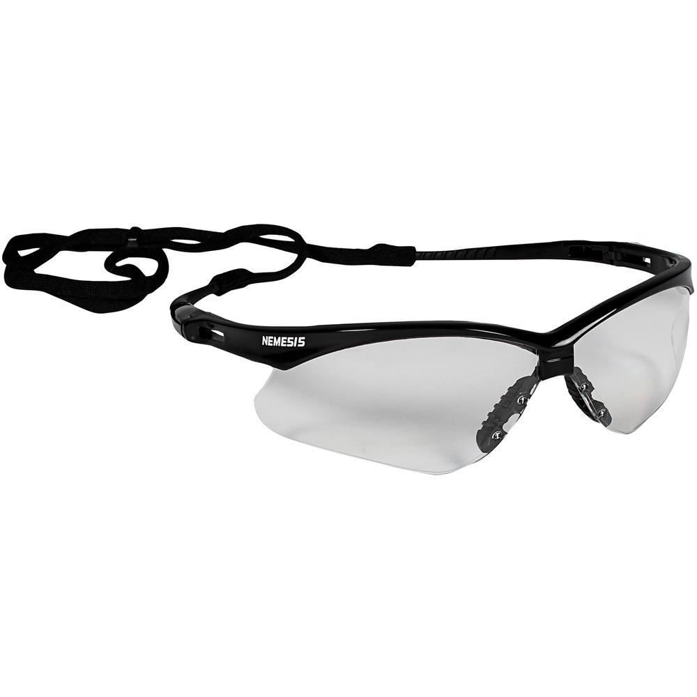 KleenGuard V30 Nemesis Safety Eyewear - Lightweight, Flexible, Comfortable, Scratch Resistant - Universal Size - Ultraviolet Protection - Polycarbonate Lens - Clear, Black - 1 Each. Picture 5
